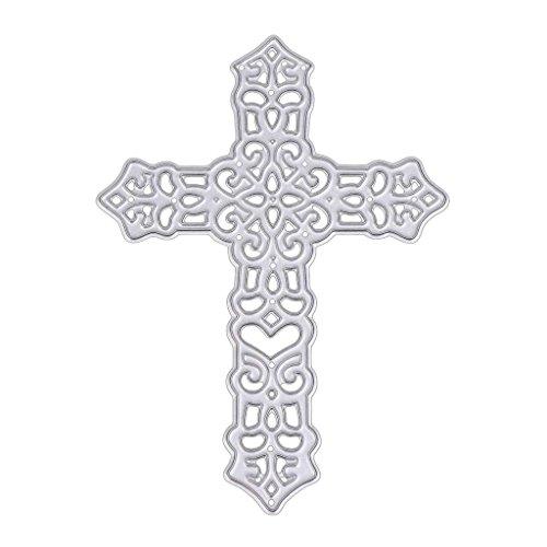 SCASTOE Cross Metal Cutting Dies Stencil Scrapbook Album Embossing Card Paper (Die Cut Valentine Card)