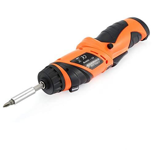 naranja JICHUI X-6V potencia kit el/éctrico inal/ámbrico puntas de destornillador con el taladro conductor del LED de iluminaci/ón inal/ámbrica tornillo de potencia Power Tools