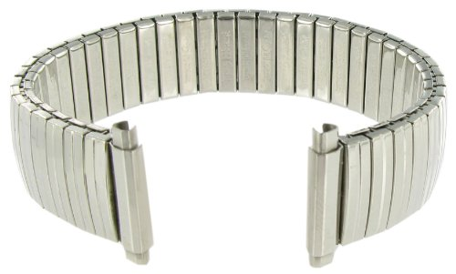 16-21mm Straight End Speidel Twist-O-Flex Silver Tone Stainless Steel Expansion Watch Band Long 520/03