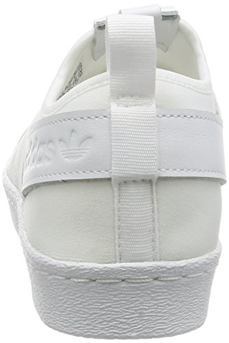 adidas Superstar Slip On, Zapatillas de Deporte para Mujer Blanco (Ftwr White/ftwr White/core Black)