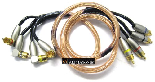 (PCA40 - Alphasonik 0.5 Meter (1.6 Feet) 4 Channel RCA Signal Cable)