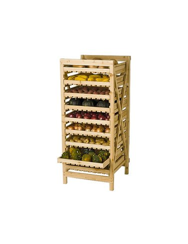 Orchard Rack, Garden Harvest Rack, Large 9 Drawer