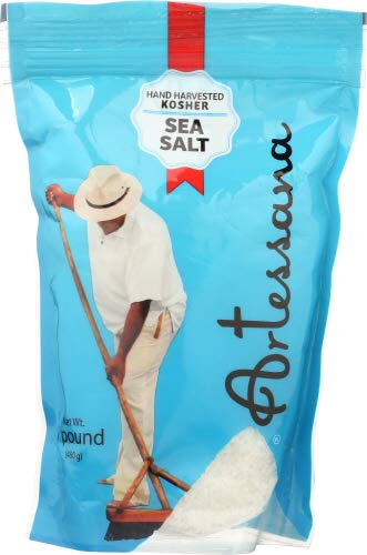 Artessana Kosher Sea Salt 1.0 LB (Pack of 12)