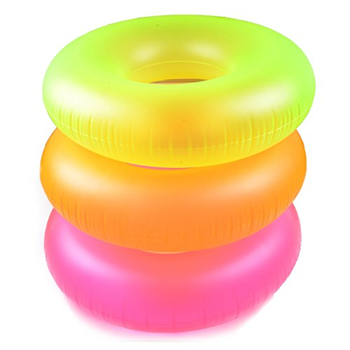 "3 Pack Intex Neon Frost Swim Tubes Inflatable 36"" Pool Floats and Rings"
