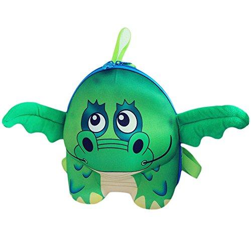 Meanhoo Cute Green Chameleon Children Bag Cartoon Animals Kindergarten Bag Nylon Backpack for Kid and Children, School Book Bag for Kids Gift Ideas for Kids Boys Girls (Pottery Barn Outlets Online)