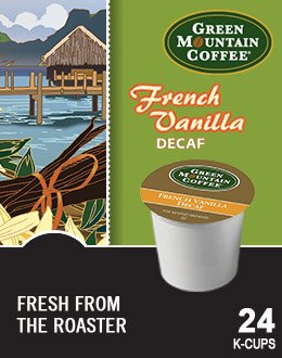 - Green Mountain FRENCH VANILLA DECAF & HAZELNUT DECAF Flavored Variety Pack 48 K-Cups for Keurig Brewers