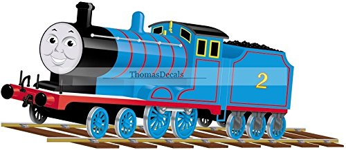"11"" Edward Blue No. 2 Thomas the Tank Engine & Friends Removable Wall Decal Sticker Art Home Decor 11 inches wide by 5 inches tall"