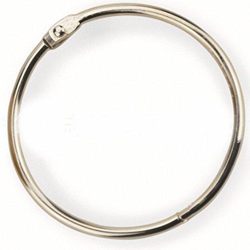Libro de hojas sueltas Binder Anillos, anillo, plata, 50por caja, 1 - Inch
