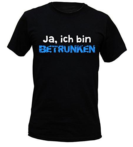 Wiesn T-Shirt - Ja - Ich bin betrunken - lustiges Sprüche Wiesn Shirt ideal für's Oktoberfest statt Lederhose und Dirndl