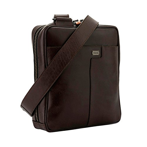 Amazon.com | Velez Men Genuine Colombian Leather Small Bag Shoulder Bag Sling Bag Crossbody Mini Messenger Bag For IPad | Bandolera de Cuero de Hombre Brown ...