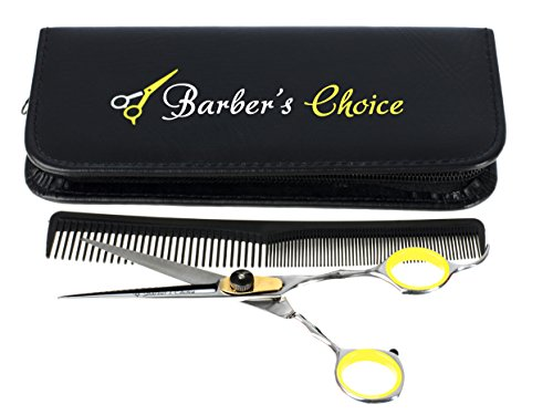Professional Hair Cutting Barber Scissors/Shears with Comb and Case - 6.5'' Overall Length - Japanese Stainless Steel - Sharp Razor Edge - with Adjustment Tension Screw - by Barber's - Sale Nz Online
