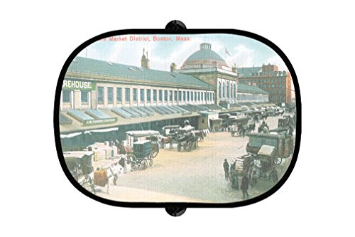 In The Market District, Boston, Ma 2Pcs Foldable Auto Window Sunshade - Market Ma Boston