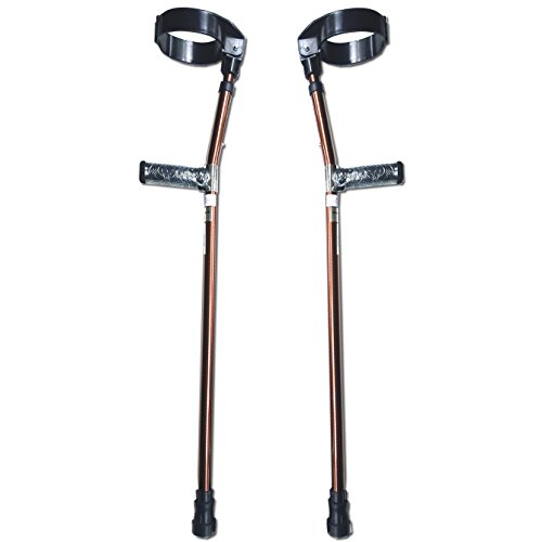 Walking Lightweight Adjustable Forearm Crutches Size M (Pair) - Bronze by KX Medical (Image #5)
