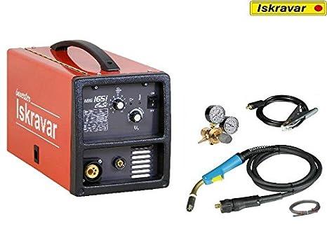 Iskra Inverter Mig Mag Flux Soldadura 165i Cusi Ecoline - Gas sudor dispositivo iskravar: Amazon.es: Bricolaje y herramientas