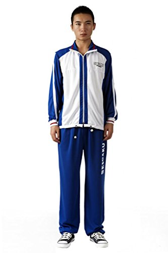 Prince Tennis Apparel - Mtxc Men's The Prince of Tennis Cosplay Seishun Academy Winter Tennis Apparel Size Large Blue