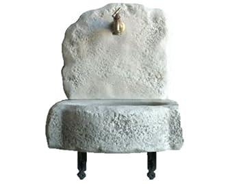 Fregadero fuente de granulado de piedra 40 x 30 x H50 cm. Peso 30 kg.: Amazon.es: Jardín