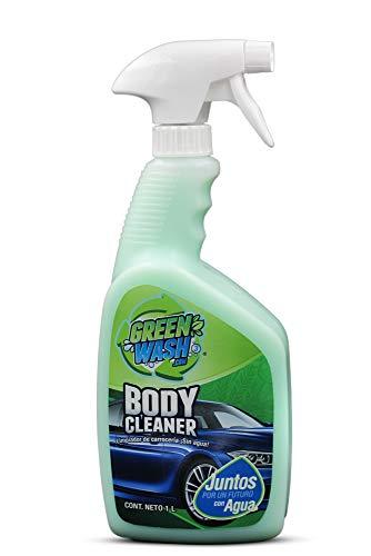 Green Wash 3 Lavado En Seco Ecológico Lava Y Encera Tu Auto Sin Usar Agua Botella de 1 Litro con Atomizador