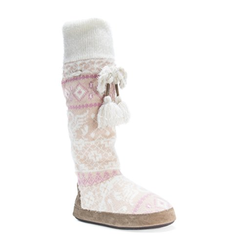 Image of MUK LUKS Women's Angie Slipper, Light Pink, X-Large/11.5 M US