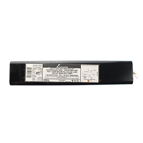 - Advance 72C5782-NP Metal Halide Ballast HID Lamp, HPF, 250W M58 OR H37 120/277V