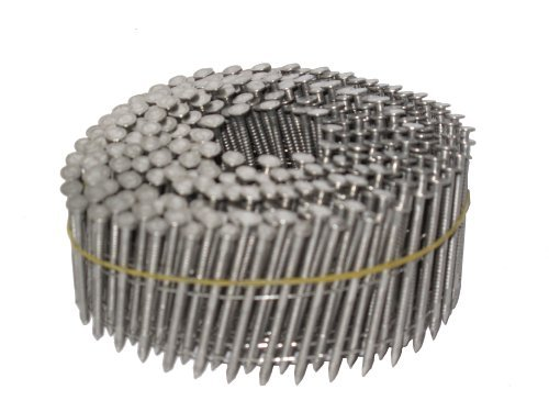 Simpson Swan Secure S13A125SNBP 1-1|4-Inch by 0.090 Ring Shank Wire Weld 15-Degree T-304 Stainless Steel Coil Siding Nails, 1500 per pack by Simpson Swan Secure