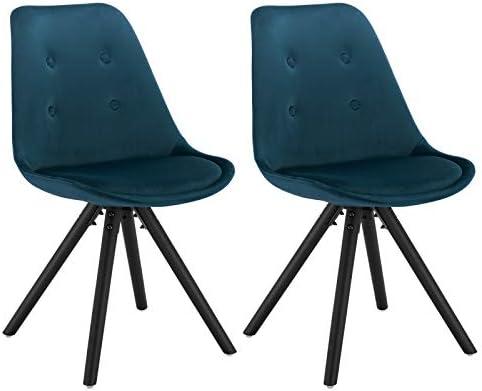 WOLTU® BH196bl 2 2 x Esszimmerstühle 2er Set Esszimmerstuhl