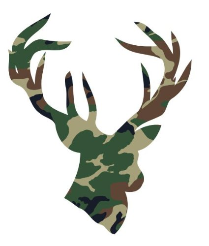 Deer head camouflage camo vinyl decals bumper stickers navy army soldier marine military (Glock Pistol Stickers)