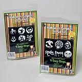 2 Halloween Pumpkin Carving Stencil Kits 12 Patterns Total w/ Tools