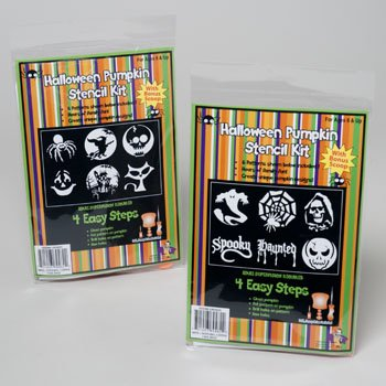 1 X 2 Halloween Pumpkin Carving Stencil Kits 12 Patterns Tot