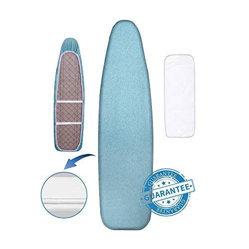 Hansprou Silicone Coating Ironing Board Cover and Pad Resists Scorching