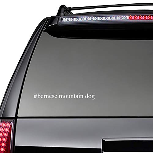 Yilooom Bumper Sticker for Cars, Trucks, Laptops - Bernese Mountain Dog Hashtag - Dogs - 11