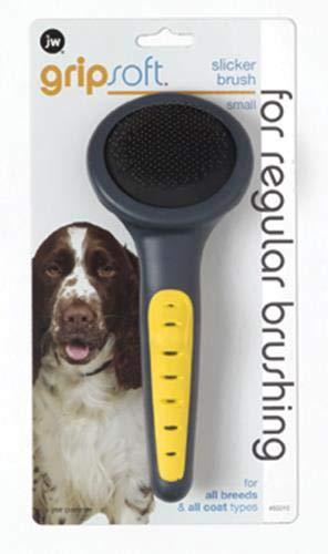 (JW Pet Company GripSoft Slicker Brush Dog Brush, Small)
