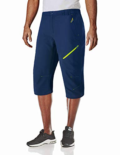 MAGCOMSEN Long Shorts for Men Sports Pants Capri Joggers Capri Shorts Men Capri Pants for Men Royal Blue