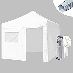 Eurmax Premium 10x20 Canopy Tent White Party Wedding Tent Outdoor Carport w/ 4 Removable Side Walls & Carry Bag