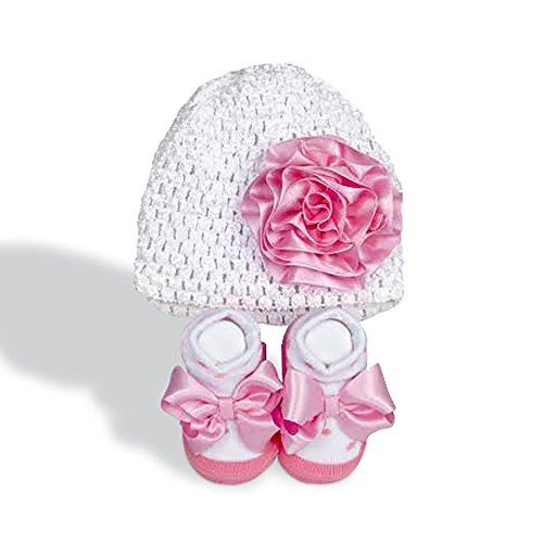Babygifts Adorable Knit Hat and Socks For Baby Girl, Adorable Baby Girl Gift, 0-6 Months Old Baby Girl, Top Baby Girl Shower Gifts
