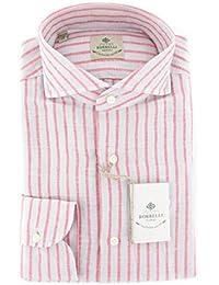 New Borrelli Light Gray Striped Extra Slim Shirt