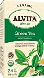 Alvita Organic Green Tea Herbal Supplement - 24 Tea Bags, 12 Pack