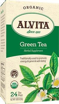 Alvita Organic Green Tea Herbal Supplement - 24 Tea Bags, 12 Pack by ALVITA