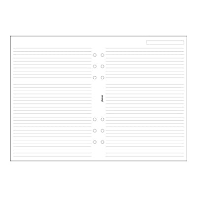 Filofax A5 Ruled White Paper (B343008)