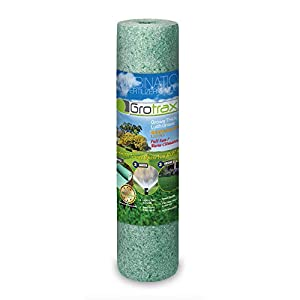 Grotrax Big Roll All-in-One Bermuda Rye Grass Seed Mat Roll, (100 Square Feet)