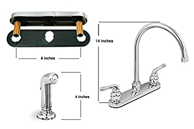 Lead Free Two-Handle Kitchen Faucet With Spray, Chrome