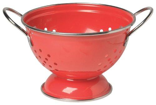 Now Designs Metal Colander, 1-Quart, Red