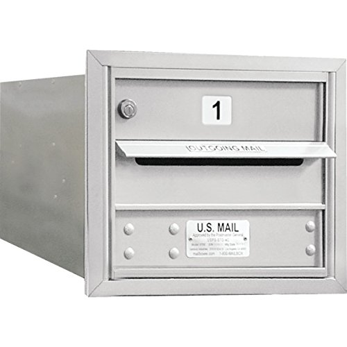 692797 Horizontal 4C Mailbox, 1 Door, Silver, 3 Door (4c Horizontal Mailboxes Box)