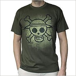 ABYstyle - One Piece - Camiseta - Craneo con Mapa - Hombre - Khaki XXL: Amazon.es: Libros
