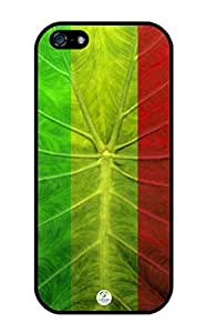 linJUN FENGiZERCASE iPhone 5, iPhone 5S Case Rasta Leaf Reggae RUBBER CASE - Fits iPhone 5, iPhone 5S T-Mobile, Verizon, AT&T, Sprint and International