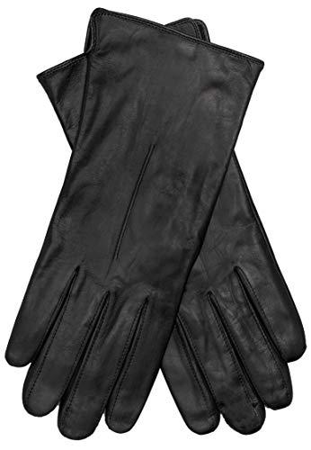 EEM Damen Leder Handschuhe ELENA aus Lammnappaleder, mit Ziernaht auf der Oberhand, modisch, klassisch, warm