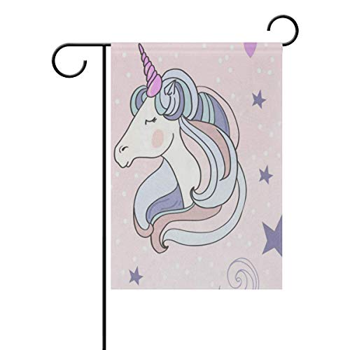 lightly Sweet Home Garden Flag Vertical Double Sided Spring Summer Unicorns Outdoor Yard Flags Decorative 12x18 Inch ()