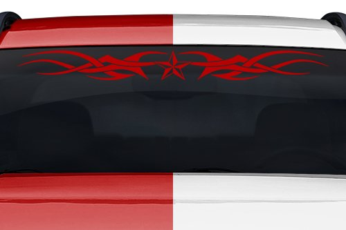 (Sticky Creations - Design #110-01 Nautical Star Tribal Accent Windshield Decal Sticker Vinyl Graphic Back Rear Window Banner Tailgate Car Truck SUV Van Boat Trailer | 36