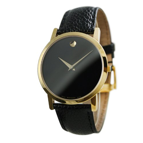 Movado Classic Museum Black Dial Mens Watch 0606180 Movado Classic Museum
