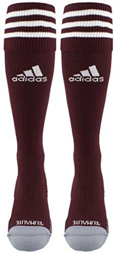 adidas Copa Zone Cushion III Soccer Socks (1-Pack), Maroon/White, Medium