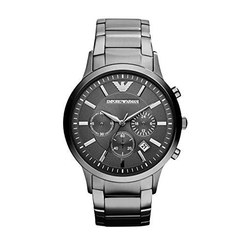 Emporio Armani Men Accessories - Emporio Armani Men Analog-Quartz Stainless Steel Grey with Grey Dial AR2454